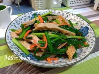 綠韮菜炒甜不辣
