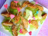 ♫【蘋果雞柳沙拉♥Apple & Chick Salad ♥】佐蜂蜜芥茉醬
