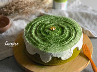 抹茶融雪戚風蛋糕【燙麵法】
