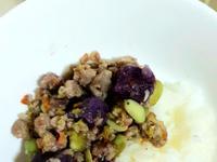 [寵物鮮食]紫薯豬肉豆豆飯