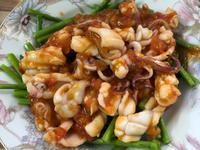 芦笋茄汁墨魚