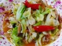 簡易家常菜-開陽炒白菜