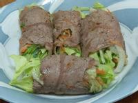 蔬菜牛肉捲
