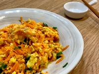護眼料理!自然鮮甜~紅蘿蔔炒蛋