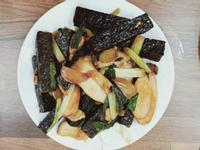 杏鮑菇醬炒米血
