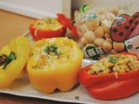 甜椒鑲青醬焗烤野菇飯「好菇道營養料理」