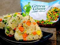 三色手捏飯糰 - 綠巨人天然三色蔬菜