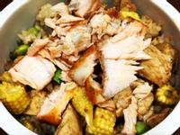 高蛋白「鮭魚雞胸鮮蔬拌飯」568卡/1人