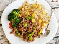 香蒜黑椒毛豆炒肉末(低醣菜)
