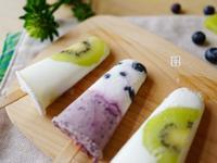 看的到水果的冰棒! 奇異果/藍莓優格冰棒