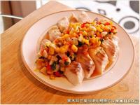 黑木耳芒果沙律佐鯛魚片.柯媽媽の植物燕窩