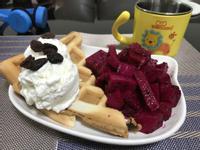 水果冰淇淋鬆餅(奶素)