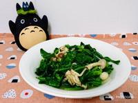 蒜香菇菇炒芥蘭