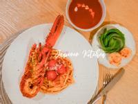 西式意粉🍝卡真龍蝦蕃茄意粉