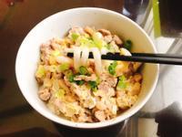 豬肉菇菇拌烏龍麵