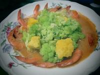 ~花椰蝦,醬淋飯~