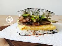日式舞菇嫩蛋三明治飯糰【好菇道營養料理】