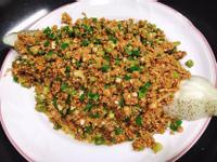 蒜香豆酥鱈魚