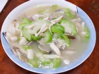 絲瓜蛤蜊炒雙菇