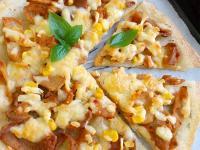 韓式辣炒肉片薄皮披薩(蛋餅皮變披薩)