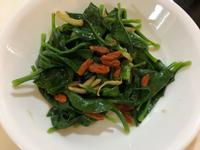 麻油炒枸杞皇宮菜