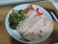 香烤鮭魚時蔬(小烤箱)