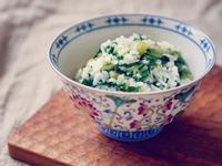 上海菜飯(青菜不發黃的方法)