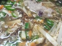 秋葵魷魚肉羹湯