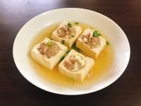 杏鮑菇肉末釀湯豆腐(電鍋料理)