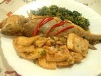 雪菜豆腐燒黃魚