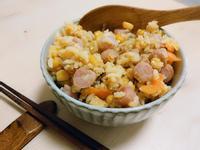 火腿(香腸)玉米蛋炒飯