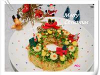 【親子食堂】聖誕花圈飯飯1
