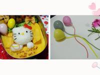 彩繪馬卡龍色氣球 幫Hello Kitty慶生