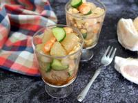 柚香黃豆蝦沙拉
