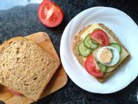 蔬食三明治∣早餐