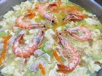 家常鮮蝦麵疙瘩(手揉麵團)