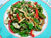 lanni 糯米椒拌炒豆乾絲