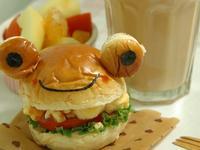 【親子食堂】青蛙-美式滑蛋漢堡包