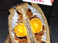 芋泥相遇之芋泥鹹蛋黃三明治~無糖豆漿版