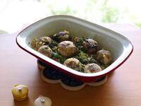 蒜香蘿勒烤蘑菇佐青蘆筍