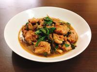塔香三杯雞腿肉(家常菜)