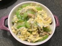 吻魚絲瓜滑蛋丼飯(無調味)