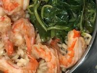 草蝦🦐蔬菜🥬麵🍜