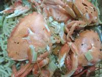 蒸鐵板麵螃蟹