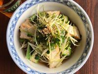 香蔥秋葵炸豆腐蕎麥麵(涼麵,湯麵都好吃)