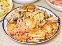 【家常菜、電鍋菜】花雕鮮蝦粉絲煲
