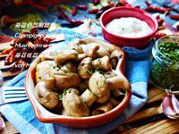 蘑菇佮蒜頭搵醬