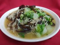 (無油料理)白菜金針燴木須