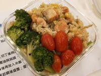 鮭魚和風嫩菇燉飯