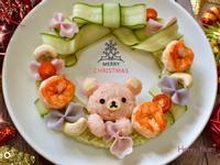 拉拉熊飯糰聖誕花圈